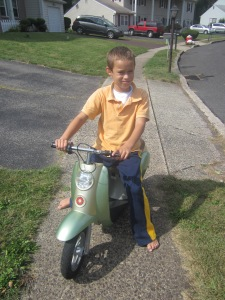 Razor Moped from yard sale